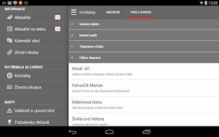 Screenshot of Kuřim v mobilu