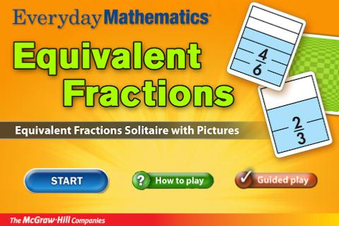 Everyday Math Equiv. Fractions