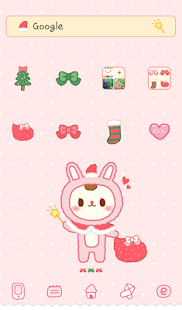 rabbit bbobbo happy Xmas dodol - screenshot