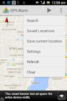 Screenshot of GPS ALARM