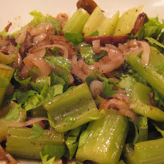 Jennie's Roasted Celery And Mushrooms