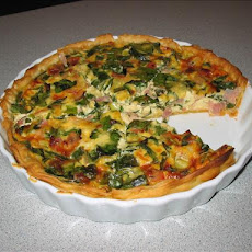 Spinach and Ham Quiche