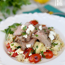 Greek Inspired Steak & Rice