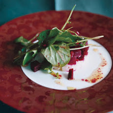 Smoked-Sable Tartare with Beets and Watercress
