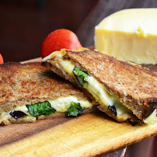 Eggplant-Basil Grilled Cheese on Rye