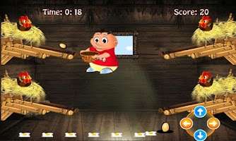 Screenshot of Chicken egg Catcher: Farm Game