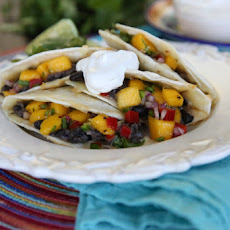 Black Bean and Mango Quesadillas