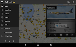 Screenshot of Flightradar24 Free