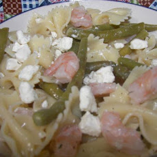 Shrimp, Green Bean and Feta Pasta Salad