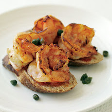 Red Pepper Rouille and Shrimp Toasts