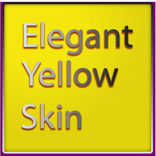 個人化必備App|Elegant Yellow Keyboard Skin LOGO-綠色工廠好玩App