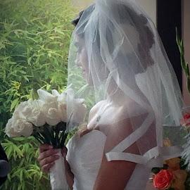 A Brief Moment in Her Journey by Patty Hartigan - Wedding Bride ( vows, wedding, bride, portrait, profile )