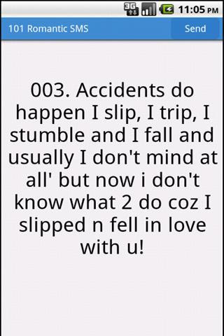 101 Romantic SMS