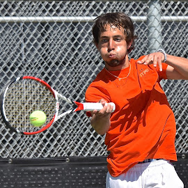 Blow into the Forehand by Steven Aicinena - Sports & Fitness Tennis