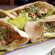 Salmon Salad Pita Pockets