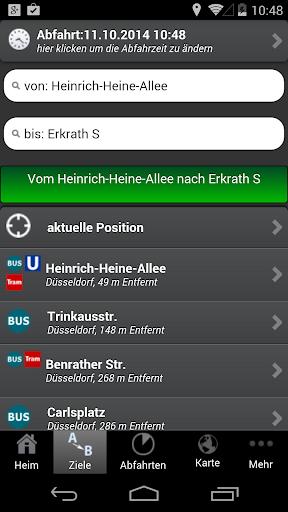 A+ Düsseldorf Journey Planner - screenshot