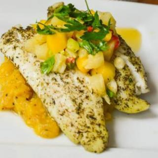 Tilapia With Mango Pineapple Salsa