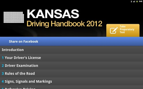 Kansas Driving Handbook - screenshot