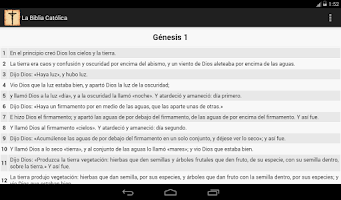 Screenshot of La Biblia Católica