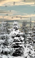 Screenshot of Winter Snow Trees 3D Trial LWP