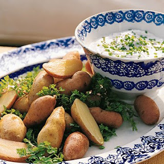 Fingerling Potatoes and Goat Cheese Fondue