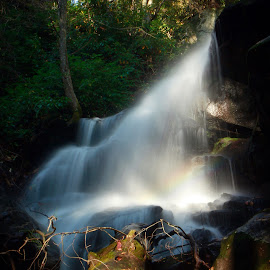 Upper Badger Falls  by Thomas Mabry - Landscapes Waterscapes ( #landofwaterfalls )