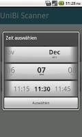 Screenshot of UniBi Scanner