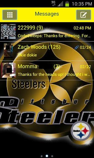 GO SMS Steelers Theme