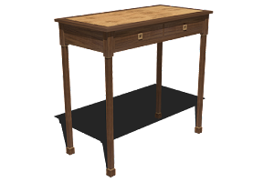 3D Image of a Modern Console Table