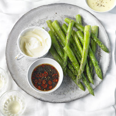Asparagus With Dipping Sauces