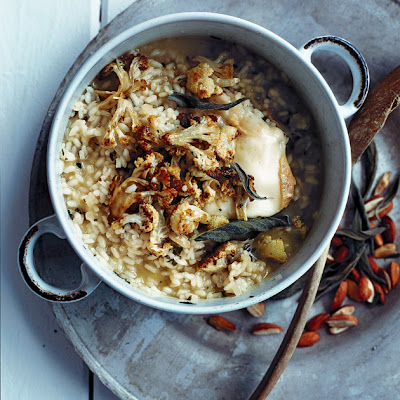 Roasted Cauliflower, Sage And Almond Risotto