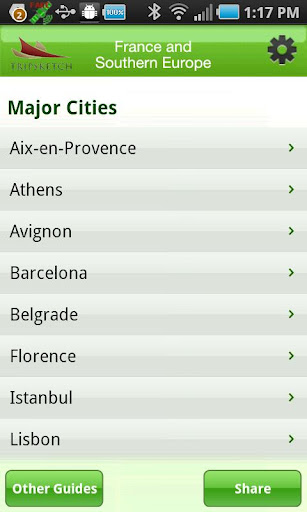 TS GreenGuide: Southern Europe