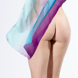 Peachy by Alda Sykes - Nudes & Boudoir Artistic Nude ( studio, model, art nude, lighting, woman, bottom, lady )