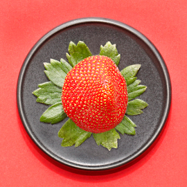 Plated strawberry by Mia Ikonen - Food & Drink Fruits & Vegetables ( red, fresh, plate, finland, strawberry )