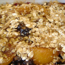 Blueberry Peach Almond Crisp