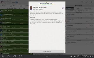 Screenshot of NFL Fantasy Cheat Sheet HD
