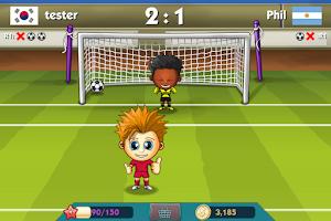 Screenshot of World Soccer Shoot Out