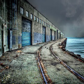 Dead End Rail by Dbart ... - City,  Street & Park  Street Scenes ( water, industrial district, railway, waterfront, san francisco,  )