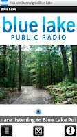 Screenshot of Blue Lake Public Radio