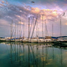 Vodice by Branko Meic-Sidic - Transportation Boats ( reflection, hdr, waterscape, boats, croatia, vodice )