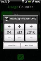Screenshot of Usage Counter