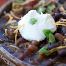 Guinness and Filet Mignon Chili