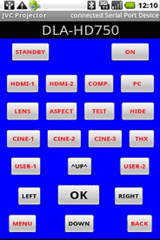 JVC Projector Remote Control