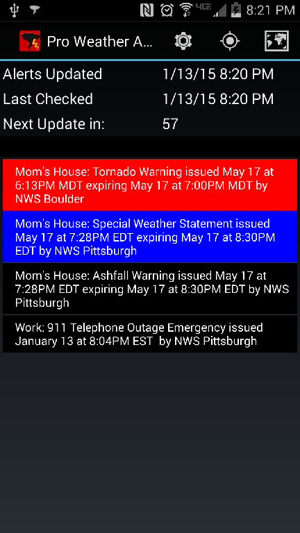 Pro Weather Alert Screenshot 0