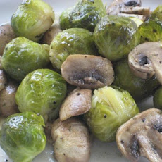 Savory Brussels Sprouts and Mushrooms