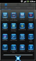 Screenshot of Blue Chrome Go Launcher EX
