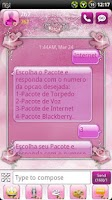 Screenshot of Pink Roses GO SMS Theme