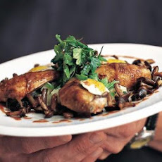 Claridge's Roasted Quail With Celeriac & Mushrooms