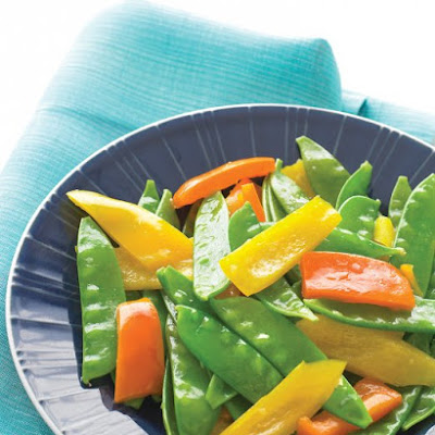 Ginger Snow Peas and Peppers
