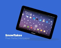 Screenshot of Snowflakes Live Wallpaper Free
